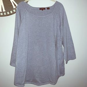 NWT Jeanne Pierre blue boat neck sweater size 2X